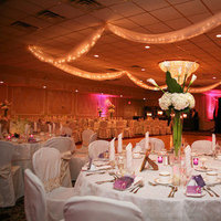Flowers & Decor, white, purple, Centerpieces, Flowers, Centerpiece, Table