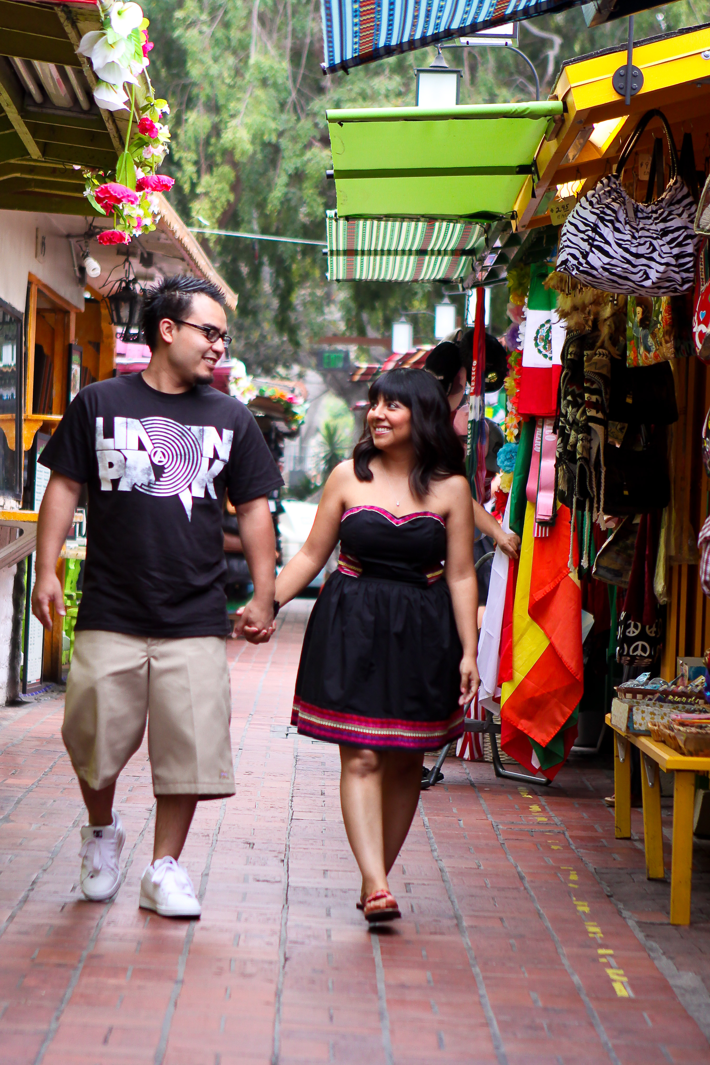Photography, black, Engagement, Los, Angeles, Street, Olvera