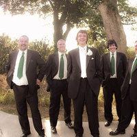 green, black, Groomsmen, Groom