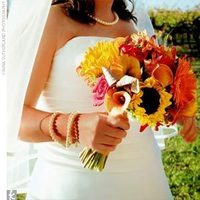 Flowers & Decor, yellow, orange, brown, gold, Flowers