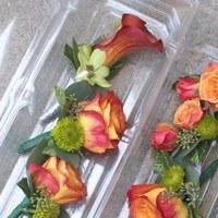 Ceremony, Flowers & Decor, orange, pink, green, Ceremony Flowers, Flowers