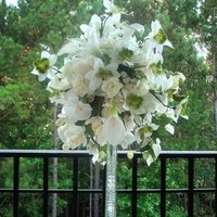Ceremony, Reception, Flowers & Decor, white, green, Ceremony Flowers, Flowers