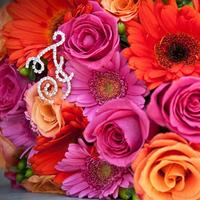 Flowers & Decor, orange, pink, red, green, Flowers, Roses, Daisies, Gerbera