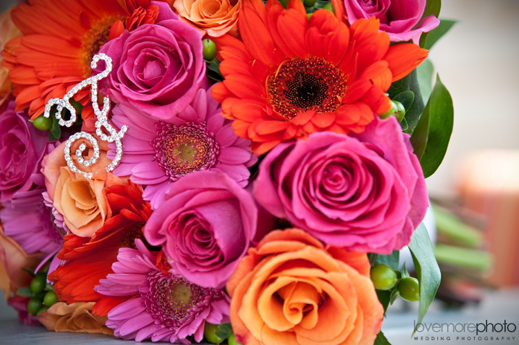 Flowers & Decor, orange, pink, red, green, Flowers, Roses, Daisies, Gerbera