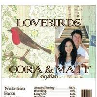 Reception, Flowers & Decor, Favors & Gifts, red, brown, Favors, Vintage lovebirds