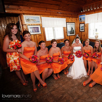 Flowers & Decor, Bridesmaids, Bridesmaids Dresses, Wedding Dresses, Fashion, orange, pink, red, dress, Bridesmaid Bouquets, Flowers, Flower Wedding Dresses