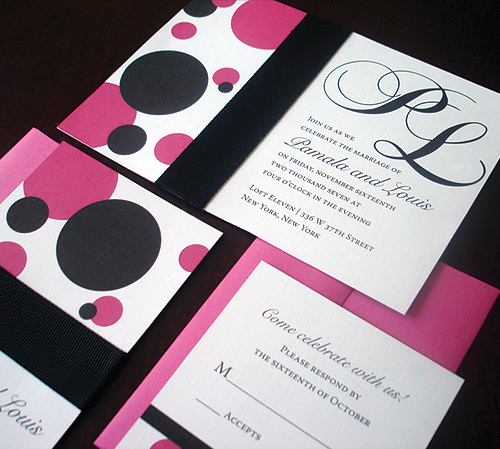 Stationery, pink, Invitations, Invite, Polka, Dot