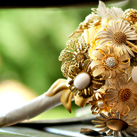 Inspiration, Flowers & Decor, Jewelry, Bridesmaids, Bridesmaids Dresses, Fashion, white, gold, Brooches, Bride Bouquets, Bridesmaid Bouquets, Flowers, Bouquet, Board, Brooch, Flower Wedding Dresses