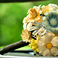 Inspiration, Flowers & Decor, Jewelry, Bridesmaids, Bridesmaids Dresses, Fashion, yellow, blue, brown, Brooches, Bride Bouquets, Bridesmaid Bouquets, Flowers, Bouquet, Board, Brooch, Flower Wedding Dresses
