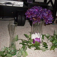 DIY, Reception, Flowers & Decor, purple, green, Centerpieces, Centerpiece, Small, Ivy