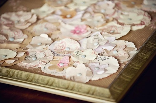 DIY, Flowers & Decor, Paper, white, pink, gold, Flowers