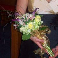 Ceremony, Flowers & Decor, Bridesmaids, Bridesmaids Dresses, Fashion, yellow, purple, Ceremony Flowers, Bridesmaid Bouquets, Flowers, Flower Wedding Dresses