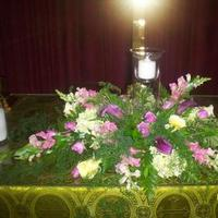 Ceremony, Flowers & Decor, yellow, purple, Ceremony Flowers, Flowers