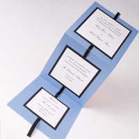 Stationery, white, blue, black, Invitations