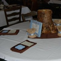 Reception, Flowers & Decor, blue, brown, Rustic, Rustic Wedding Flowers & Decor