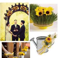 Ceremony, Flowers & Decor, yellow, Decoration, Sunflower