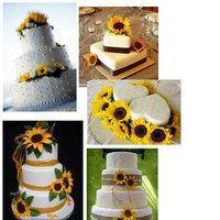 Reception, Flowers & Decor, Cakes, yellow, cake, Wedding cake, Sunflower