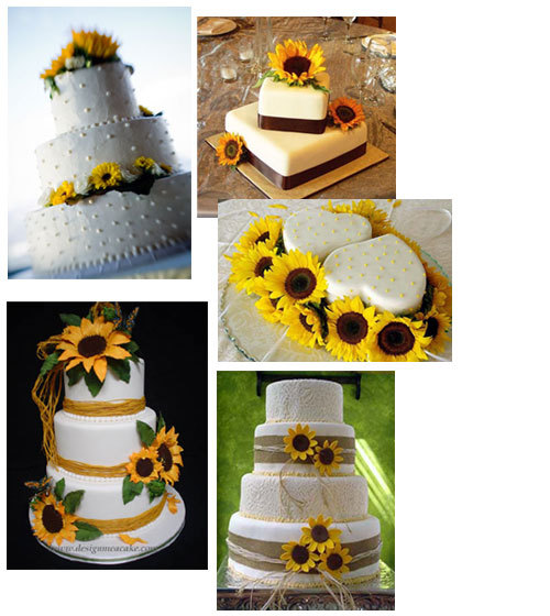 Reception, Flowers & Decor, Cakes, yellow, cake, Wedding cake, Sunflower