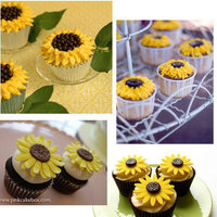 Reception, Flowers & Decor, Cakes, yellow, cake, Cupcakes, Dessert, Sunflower