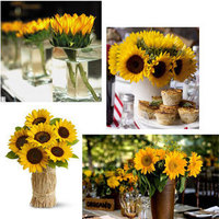 Reception, Flowers & Decor, yellow, Centerpieces, Flowers, Centerpiece, Decoration, Sunflower