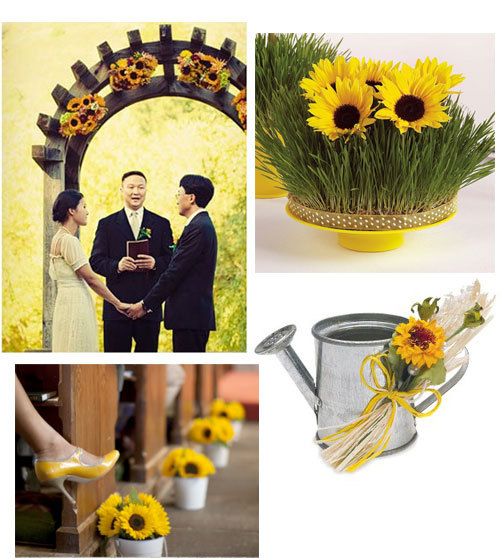 Ceremony, Flowers & Decor, yellow, Decoration, Sunflower
