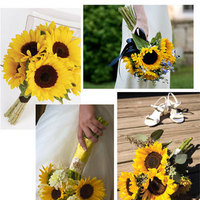 Flowers & Decor, yellow, Flowers, Sunflower, Wedding bouquet