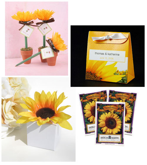 Reception, Flowers & Decor, Favors & Gifts, yellow, Favors, Gifts, Sunflower, Sunflower seeds