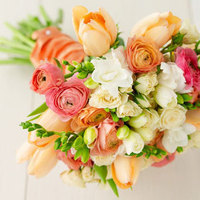 Flowers & Decor, white, orange, pink, green, Flowers