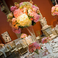 Reception, Flowers & Decor, orange, pink, Centerpieces, Flowers, Centerpiece