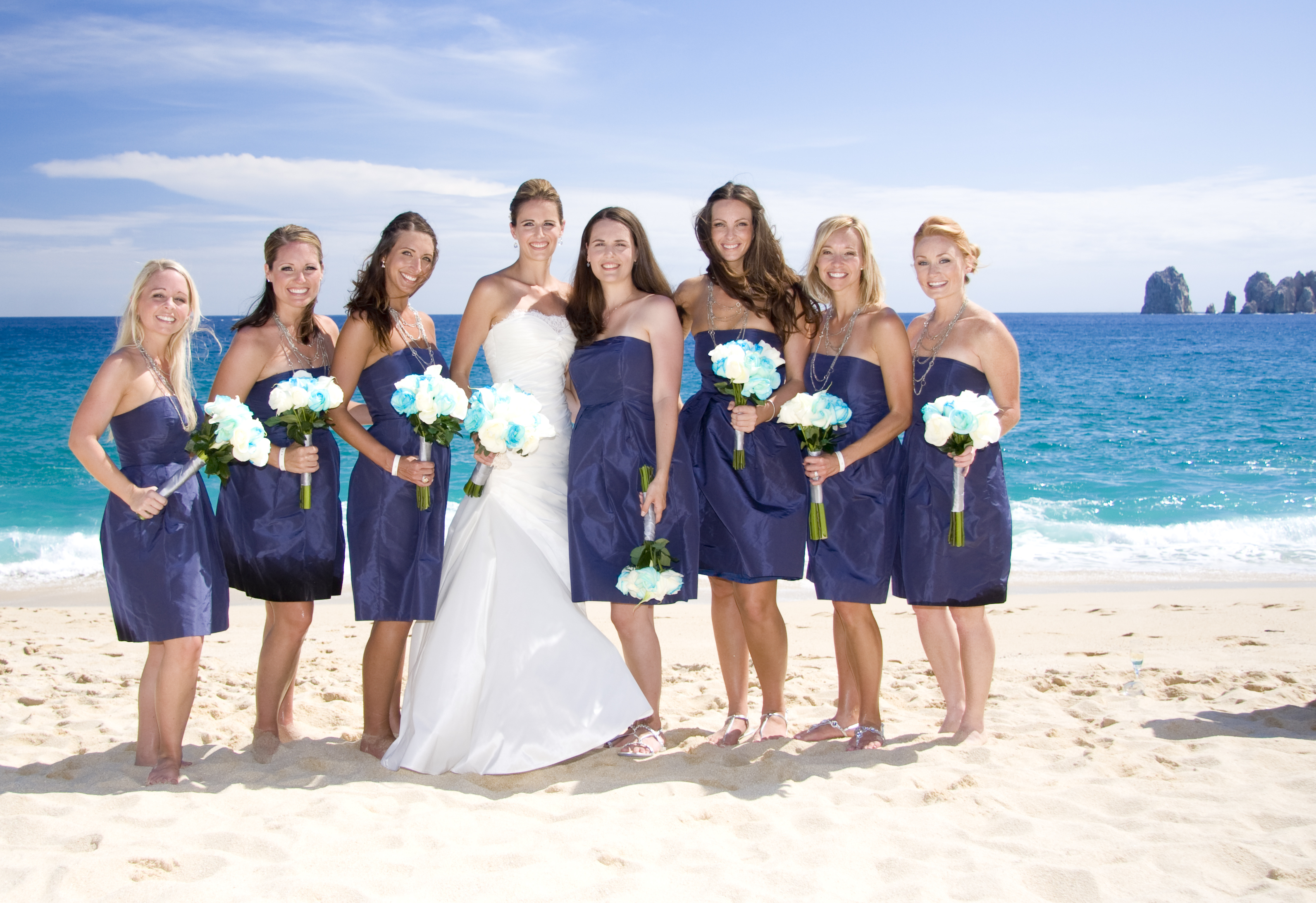 Bridesmaids, Bridesmaids Dresses, Beach Wedding Dresses, Destinations, Fashion, blue, Mexico, Beach, Cabo