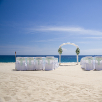 Ceremony, Flowers & Decor, Destinations, blue, Mexico, Beach, Beach Wedding Flowers & Decor, Cabo