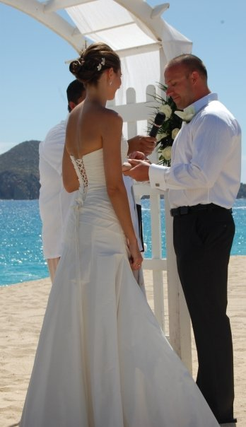 Beauty, Ceremony, Flowers & Decor, Wedding Dresses, Beach Wedding Dresses, Destinations, Fashion, dress, Mexico, Beach, Beach Wedding Flowers & Decor, Hair, Cabo