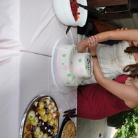 Cakes, white, pink, green, cake, Bridal, Shower