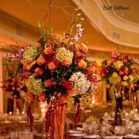 Reception, Flowers & Decor, yellow, orange, purple, green, Flowers