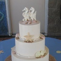 Beach Wedding Cakes, Round Wedding Cakes