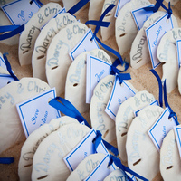 Reception, Flowers & Decor, Stationery, white, blue, Place Cards, Shell, Cards, Escort, Ocean, Placecards, Sand, Jason qtran
