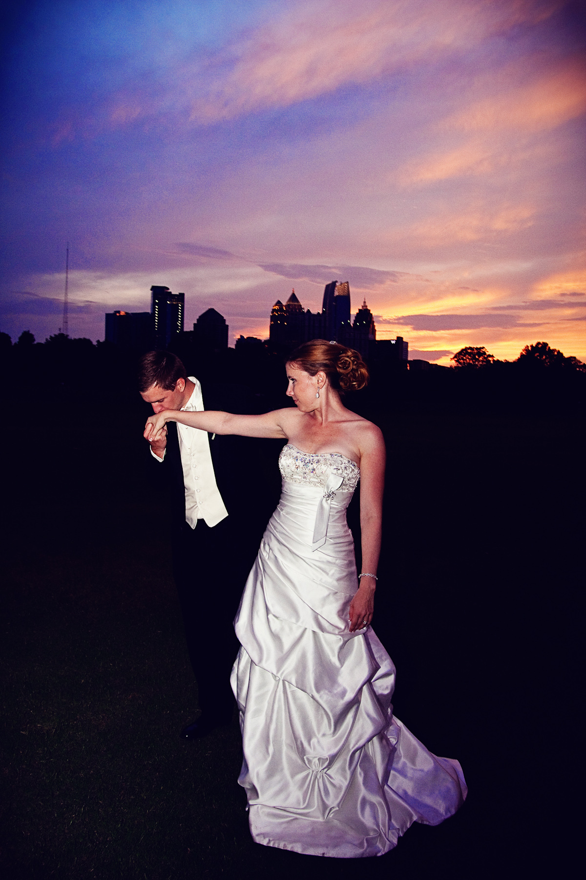 Reception, Flowers & Decor, Wedding Dresses, Fashion, dress, Sunset, Skyline, Atlanta