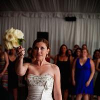 Reception, Flowers & Decor, Wedding Dresses, Fashion, white, silver, dress, Bride Bouquets, Flowers, Bouquet, Toss, Flower Wedding Dresses
