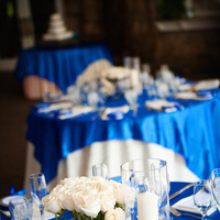 Reception, Flowers & Decor, white, blue, silver, Centerpieces, Tables & Seating, Flowers, Tables