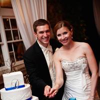 Reception, Flowers & Decor, Wedding Dresses, Cakes, Fashion, white, blue, black, silver, cake, dress