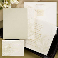Stationery, white, gold, Invitations