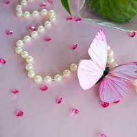 Reception, Flowers & Decor, white, pink, Wedding, Table, Inspiration board, Butterflies, Decoration, Stationary, Crystals, Beads