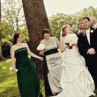 Ceremony, Flowers & Decor, Bridesmaids, Bridesmaids Dresses, Wedding Dresses, Fashion, green, silver, dress