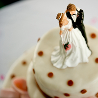 Cakes, white, pink, black, cake, Bride, Groom, Wedding, Topper, Couple, Traditional