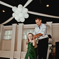 Reception, Flowers & Decor, Wedding Dresses, Fashion, white, green, silver, dress, Flower, Girl, Dancing