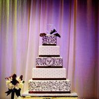 Cakes, purple, black, silver, cake
