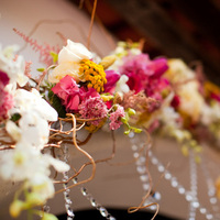 Flowers & Decor, white, yellow, pink, Flowers, Arch, Crystals