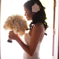 Beauty, Flowers & Decor, Wedding Dresses, Fashion, white, dress, Bride Bouquets, Flowers, Bouquet, Hair, Flower Wedding Dresses