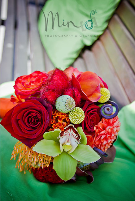 Ceremony, Flowers & Decor, Bridesmaids, Bridesmaids Dresses, Fashion, yellow, orange, red, blue, green, gold, Ceremony Flowers, Bride Bouquets, Bridesmaid Bouquets, Flowers, Flower, Bouquet, Wedding, Inspiration board, Flower Wedding Dresses