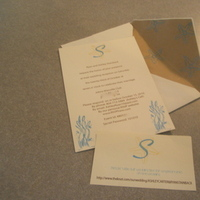 Stationery, yellow, blue, brown, Invitations